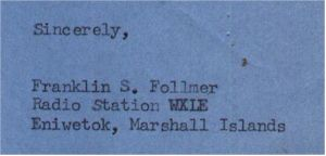 image of Radio WXLE QSL 1967