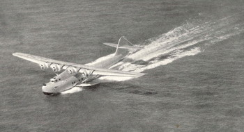 image of sister flying boat 'China Clipper' in-flight