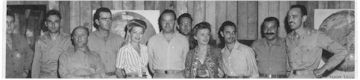 WLXH staff with Bob Hope