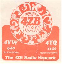image of NZ Radio, 4ZB Otago
