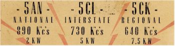 image of 5AN-5CL-5CK Listener Card, c1945
