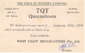 image of 7QT QSL