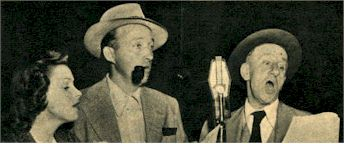 image of Judy Garland, Bing Crosby and Jimmy Durante perform for AFRS Mail Call