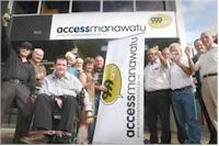 image of broadcasters and supporters of Access Manawatu