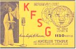image of KFSG QSL card