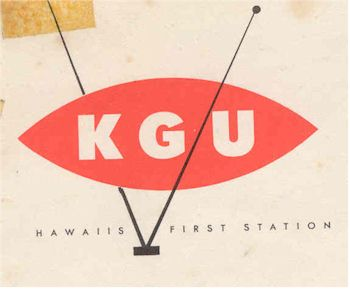 image of Hawaii Radio Station KGU letterhead