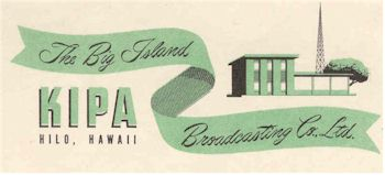 image of Hawaii Radio Station KIPA letterhead