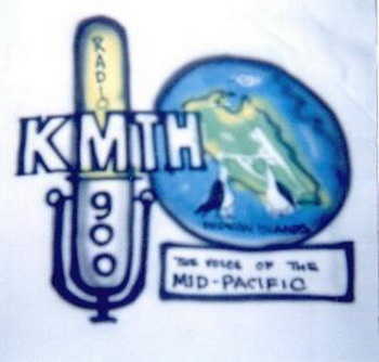image of A Honolulu artist airbrushed this KMTH logo