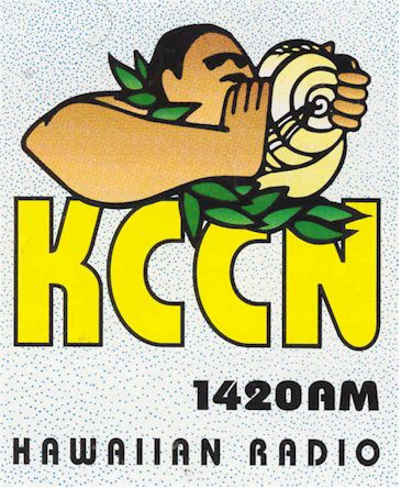 radio history image of decal from KCCN Honolulu