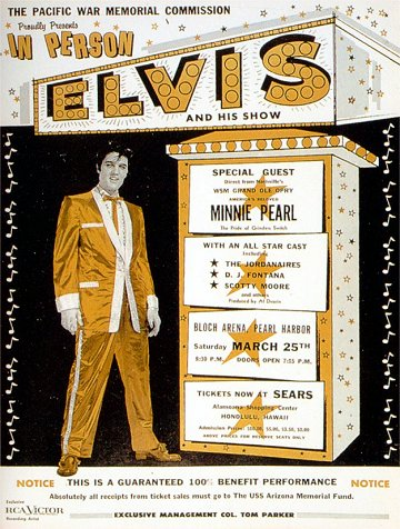 Poster for 1961 Elvis Pearl Harbor Show