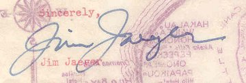 Image of James Jaeger's signature