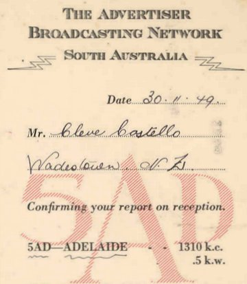 5AD Adelaide promotional card
