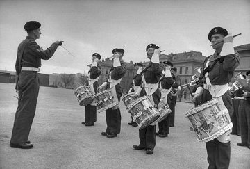 British military band in Trieste, February 1952