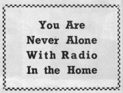 Never alone with radio