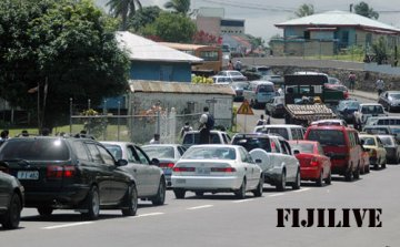 Traffic jam in Suva