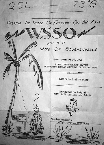 WSSO QSL flyer 1944