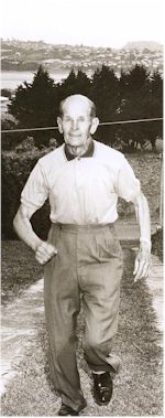 image of Emil Voigt in his 80's, jogging at home in Auckland, NZ