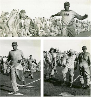 images of baseball game New Guinea Christmas Day Olympics, 1944.